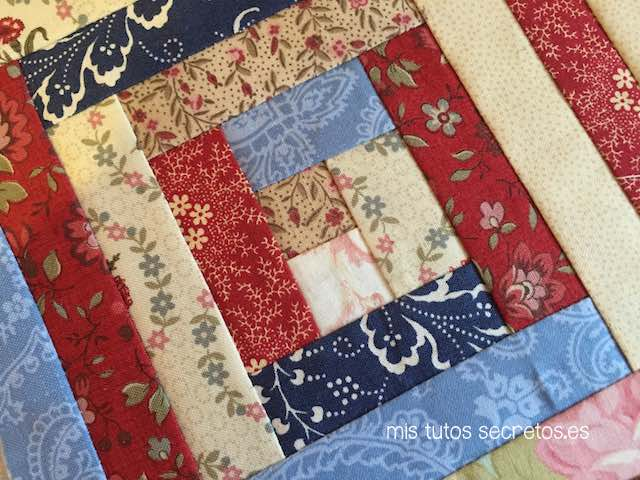 Log Cabin Patchwork 13
