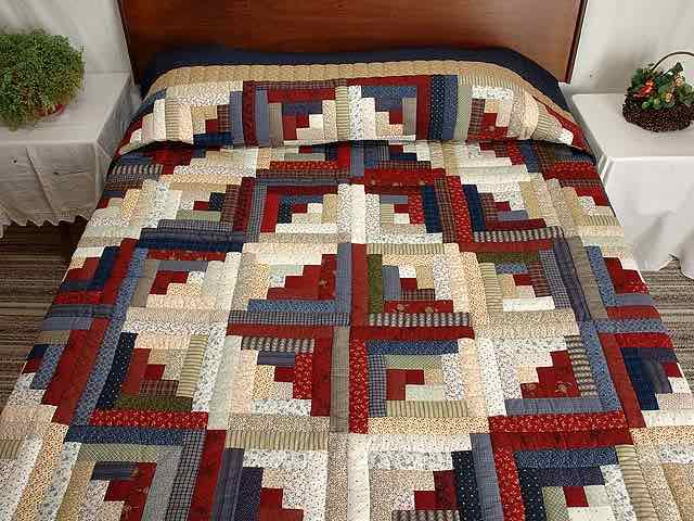 Log Cabin Patchwork 17